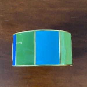 Talbots blue, green, gold enamel bangle bracelet